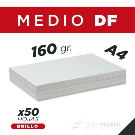 Papel Foto - 160 gr. Brillo DF A4 (x50)